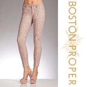 3d50fc1f0bf Boston Proper Leopard Ankle Jeans in Blush Size 10